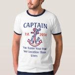 Engranaje personalizado del capitán del capitán playera