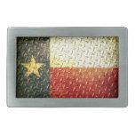 Engranaje plateado diamante de la bandera de Tejas Hebilla Cinturón Rectangular