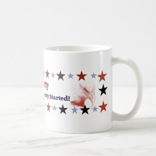 Engranaje político de la fiesta del té 2012 tazas