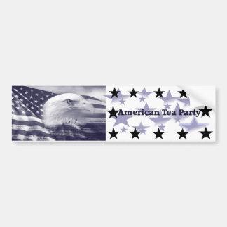 Engranaje político de la fiesta del té americana pegatina para auto