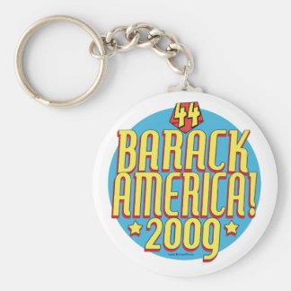 Engranaje político del superhéroe de Barack Améric Llavero