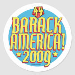 Engranaje político del superhéroe de Barack Améric Pegatina