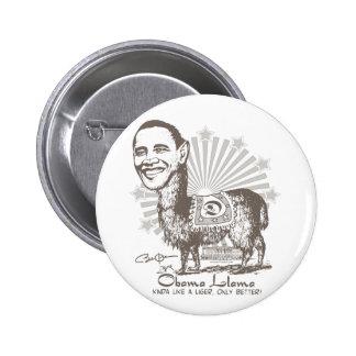 Engranaje presidencial de la llama de Obama Pin Redondo 5 Cm