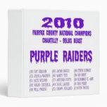 Engranaje púrpura de los asaltantes entrenados par