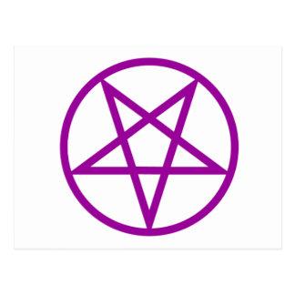 Engranaje púrpura invertido del Pentagram Postal