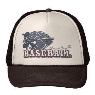 Engranaje retro del béisbol del vintage por los es gorra