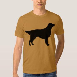 Engranaje revestido plano del perro perdiguero remeras