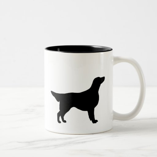 Engranaje revestido plano del perro perdiguero taza de café de dos colores