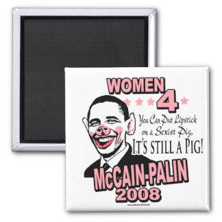 Engranaje sexista del cerdo de Obama Iman De Frigorífico