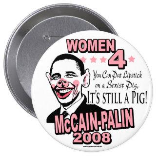 Engranaje sexista del cerdo de Obama Pin Redondo 10 Cm