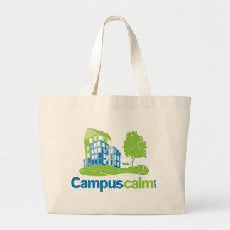 Engranaje tranquilo del logotipo del campus bolsas