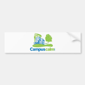 Engranaje tranquilo del logotipo del campus etiqueta de parachoque