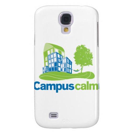 Engranaje tranquilo del logotipo del campus funda para galaxy s4