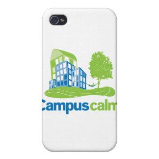 Engranaje tranquilo del logotipo del campus iPhone 4 fundas