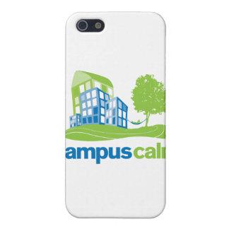 Engranaje tranquilo del logotipo del campus iPhone 5 fundas