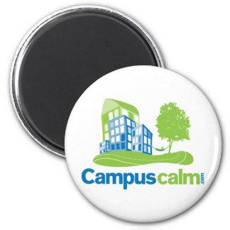 Engranaje tranquilo del logotipo del campus iman de nevera