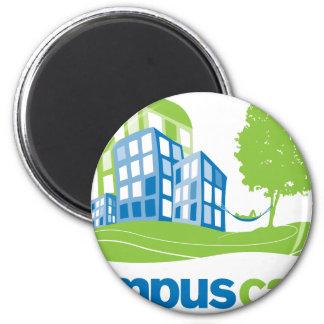 Engranaje tranquilo del logotipo del campus imán de nevera