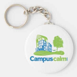 Engranaje tranquilo del logotipo del campus llavero