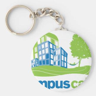 Engranaje tranquilo del logotipo del campus llaveros personalizados