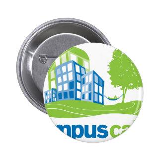 Engranaje tranquilo del logotipo del campus pin
