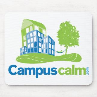 Engranaje tranquilo del logotipo del campus tapetes de raton