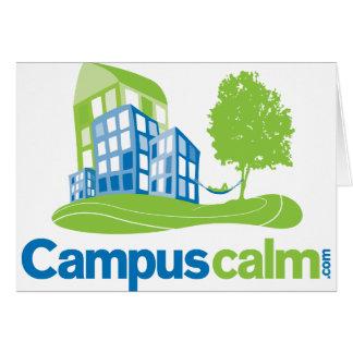 Engranaje tranquilo del logotipo del campus felicitación