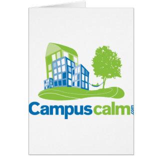 Engranaje tranquilo del logotipo del campus tarjetas