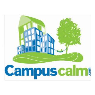 Engranaje tranquilo del logotipo del campus tarjetas postales