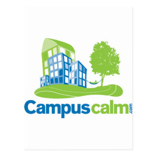 Engranaje tranquilo del logotipo del campus postales