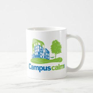 Engranaje tranquilo del logotipo del campus taza de café