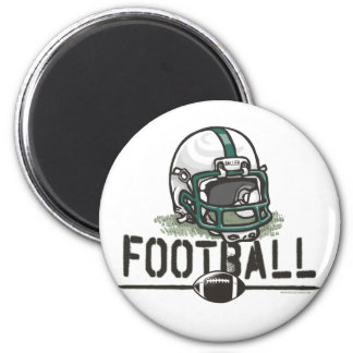 Engranaje verde del fútbol del equipo imanes de nevera