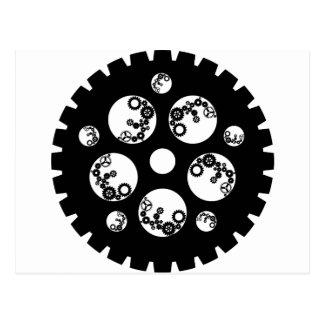 Engranaje Worx - todo negro Tarjetas Postales