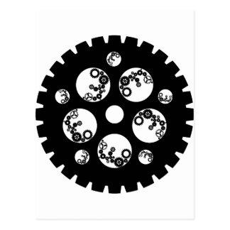 Engranaje Worx - todo negro Tarjeta Postal