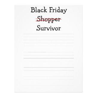 Engranaje y camisetas negros del superviviente del flyer personalizado