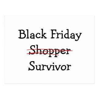 Engranaje y camisetas negros del superviviente del postales
