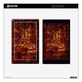 Engranajes coronarios del mecanismo de Steampunk Pegatina Skin Para Kindle Fire
