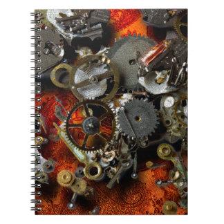 Engranajes de bronce libreta espiral