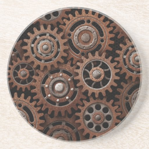 Engranajes de Steampunk Posavasos Diseño