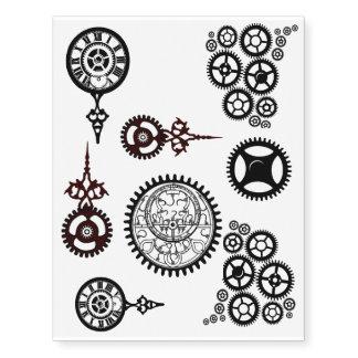 ¡Engranajes de Steampunk! Reloj, tats de los Tatuajes Temporales
