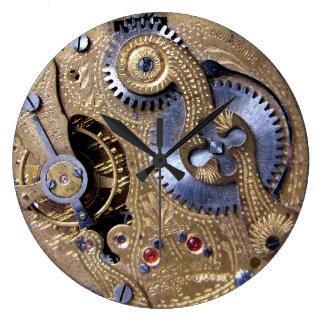 Engranajes del latón de Pocketwatch del Victorian  Reloj Redondo Grande