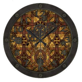 Engranajes del latón y del cobre de Steampunk con  Reloj De Pared