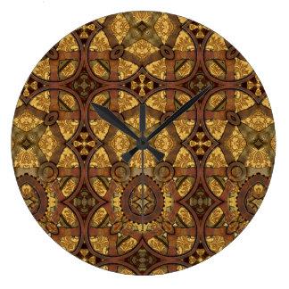 Engranajes del latón y del cobre de Steampunk Reloj De Pared