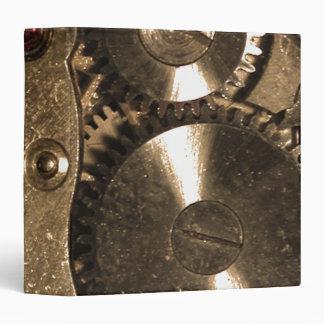 """Engranajes del metal de Steampunk Carpeta 1 1/2"""""""
