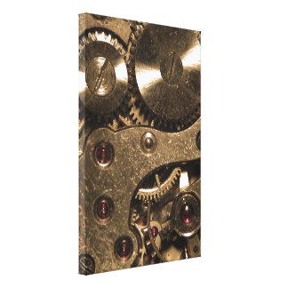 Engranajes del metal de Steampunk Impresion De Lienzo