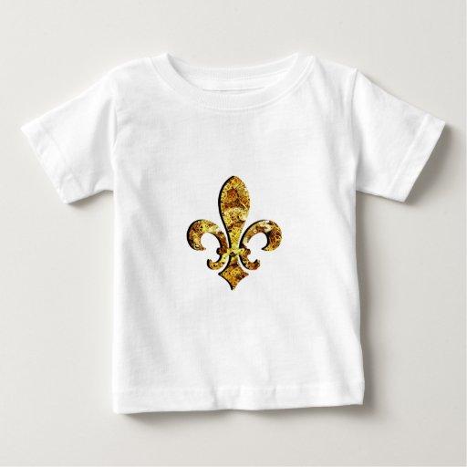 Engranajes del oro de Flor New Orleans de la flor Playeras