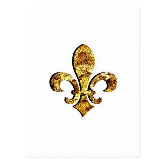 Engranajes del oro de Flor New Orleans de la flor Postal