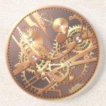 engranajes del reloj del steampunk posavasos de arenisca