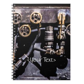 Engranajes e indicadores punkyes del vapor libros de apuntes