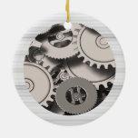 Engranajes industriales del metal adorno