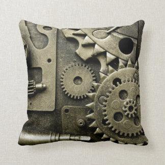 Engranajes mecánicos antiguos de hombres cojín